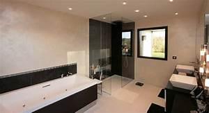 realisation salle de bain lancelin fils decorateur caen With salle de bain baignoire et douche italienne