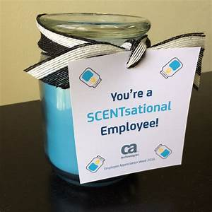 quotyou39re a scentsational employeequot scented candle fun With wedding gift for employee