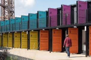 painted bathrooms ideas shipping containers fitted for startup work space psfk