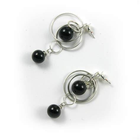 Bobble Earrings black earrings polished contemporary