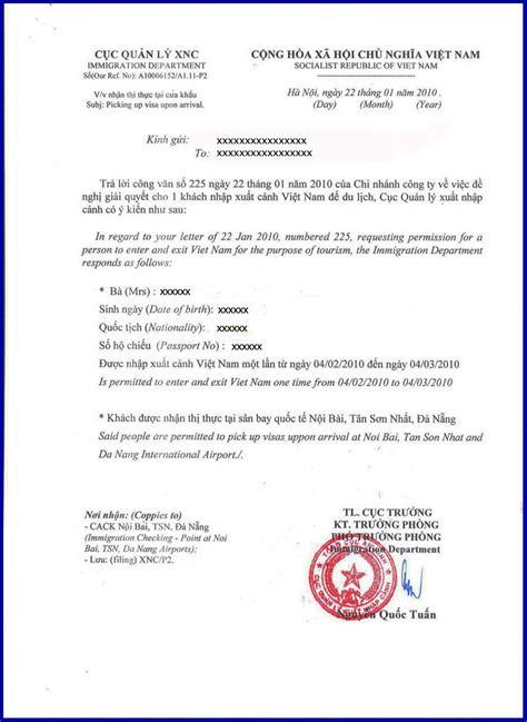 pre arranged vietnam visa approval letter vietnam visa blog