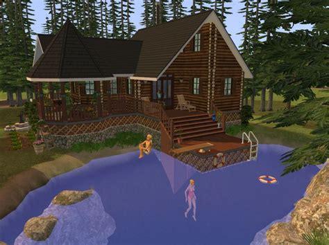 mod  sims foundation challenge log cabin   lake   minecraft cabin sims