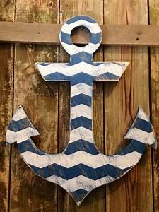 Wall decor ideas for wooden anchor