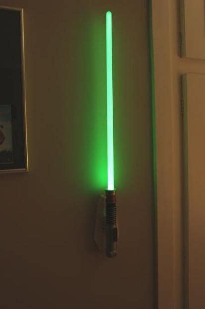 this is the lightsaber room light for walls also available blue or want quot geekiness