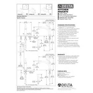 delta faucet 4453 dst linden polished chrome one handle with sidespray kitchen faucets