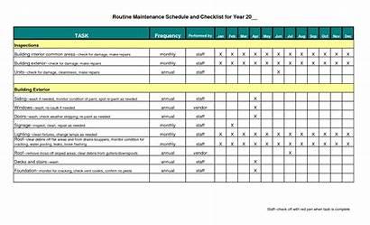 Maintenance Schedule Excel Template Building Preventive Plant