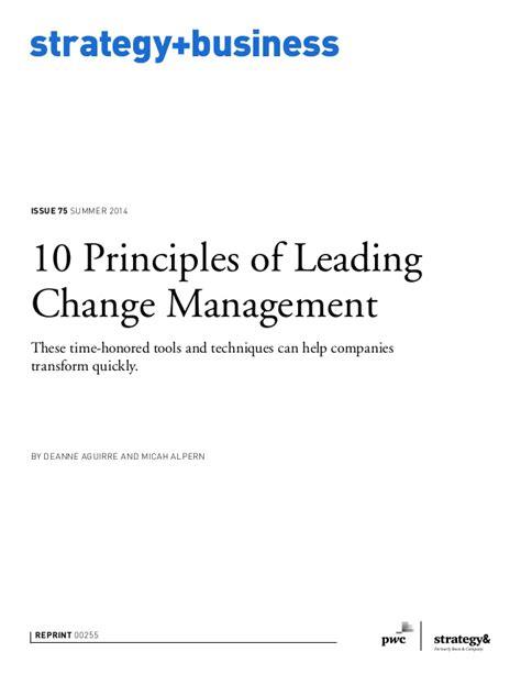 Kotter Principles by 10 Principles Of Leading Change Management