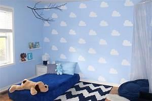Wand Streichen Ideen : wand streichen ideen muster wolke schablone kinderzimmer malerhandwerk erleben ~ Markanthonyermac.com Haus und Dekorationen