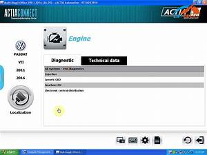 How to use ACTIA Multi diag I-2016 Win XP for Passat VII ...
