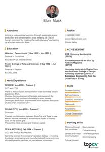 elon musk resume one page cv onepage elon musk tiny resume topcv vn topcv