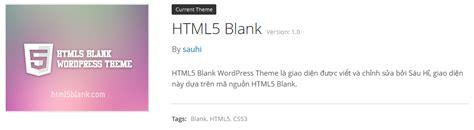 html5 blank starter theme bắt đầu viết giao diện với html5blank thanh dien it