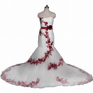 Top 10 best red white wedding dresses heavycom for Wedding dress red