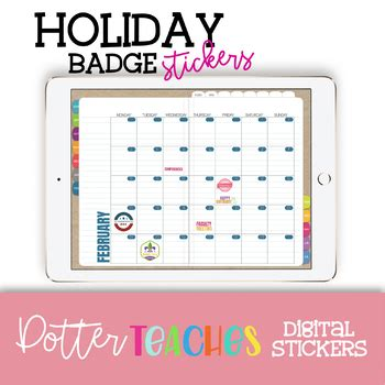 digital planner holiday badge stickers goodnotes google