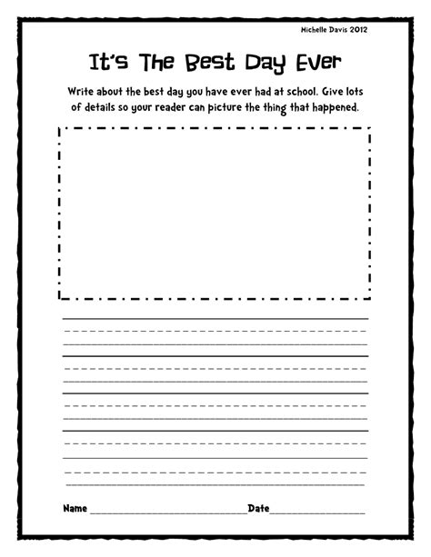 2nd grade writing prompt worksheets search results