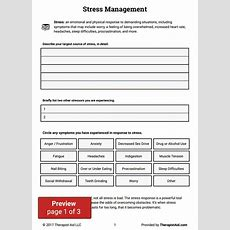 Introduction To Stress Management (worksheet)  Therapist Aid