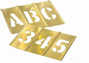 6quot brass stencil sets ch hanson 10156 6quot brass letters With metal stencil set letters