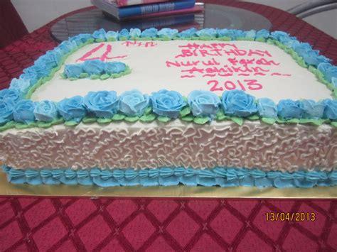 anika myrasa kek hari jadi tema biru putih