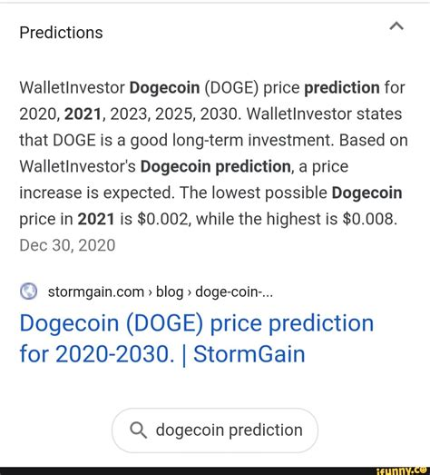 Dogecoin Price Prediction 2030 / Dogecoin Price Prediction ...
