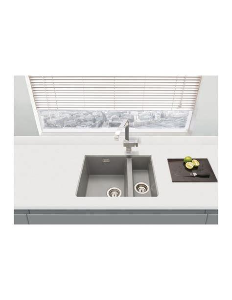 matt light grey quartz  kitchen sink undermount