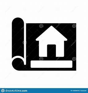 Blueprint, Glyph, Flat, Vector, Icon, Stock, Vector