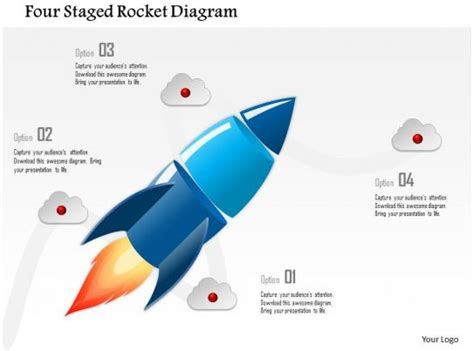 staged rocket diagram powerpoint template