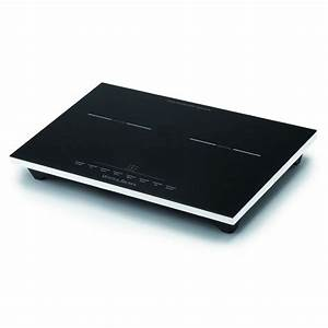 Grande Plaque Induction : white and brown table de cuisson induction posable 2 feux 1800w 1300w pc472 pas cher ~ Melissatoandfro.com Idées de Décoration