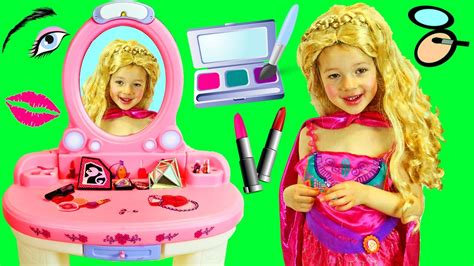 dress up vanity mermaid princess makeover dress up with a table top