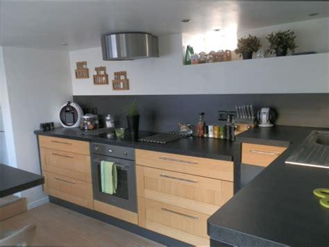 cuisine noir plan de travail bois cuisine bois cuisine bois et plan de travail noir
