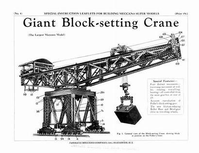 Crane Giant Block Setting Super Models Meccano