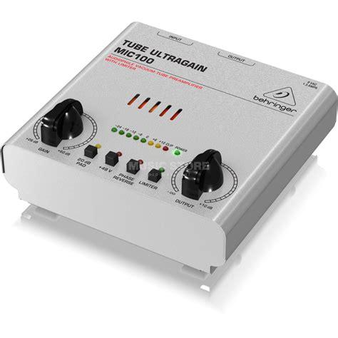 Behringer Am100 Uf 100 behringer mic100 ultragain 1 kanal r 246 hren mic