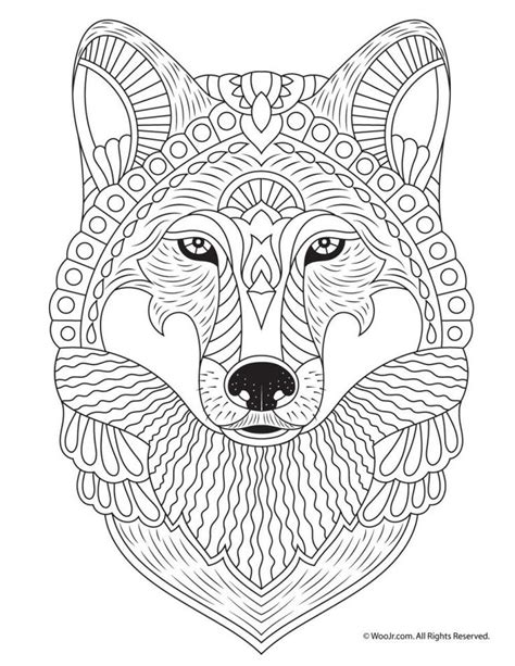 Fall Animal Adult Coloring Pages Mandala coloring pages