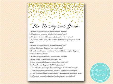 Newlywed For Bridal Shower - the newlywed bridal shower quote gold
