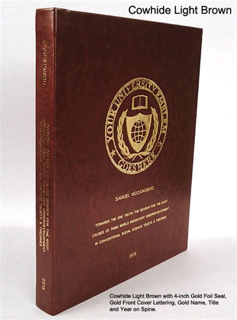 fabric hard cover binding services phd book binding
