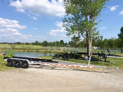 Used Boat Trailer Tri Axle by Aluminum Tri Axle Boat Trailer 27 30 Ft 14300 Lbs Chicago