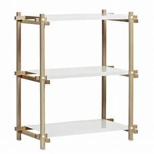 étagère Basse Bois : etag re colonne basse woody en bois et m tal laqu hay ~ Teatrodelosmanantiales.com Idées de Décoration