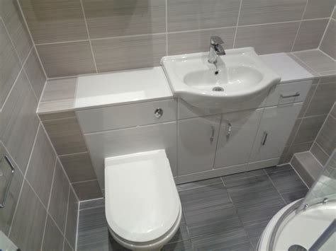 Bathroom Converted To A Shower Room With Bathroom Storage