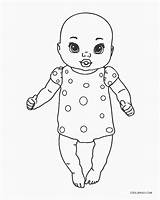Coloring Pages Dolls Printable sketch template
