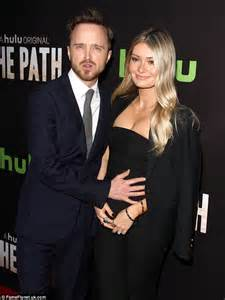 Aaron Paul and wife Lauren Parsekian- The Path Hollywood ...