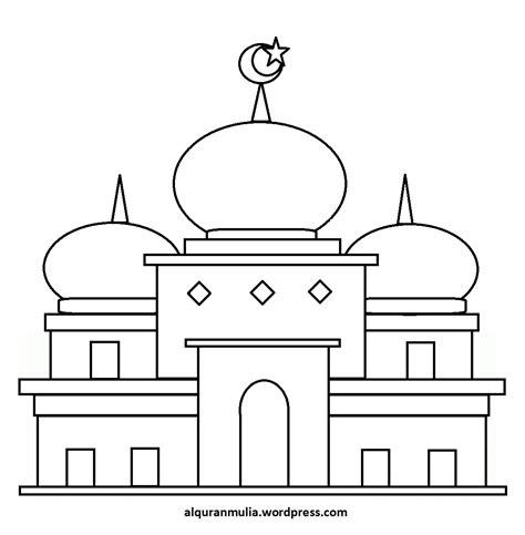 Sketsa Gambar Masjid Poster
