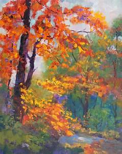 Artbymarion Joy of Colour: Amber Glow, Autumn trees oil ...