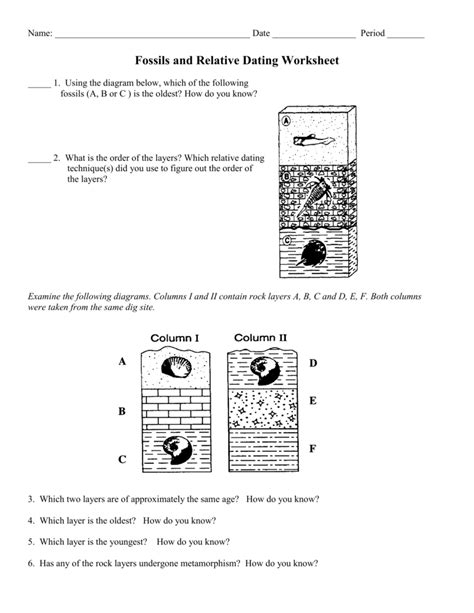 relative age of rocks worksheet them and try to