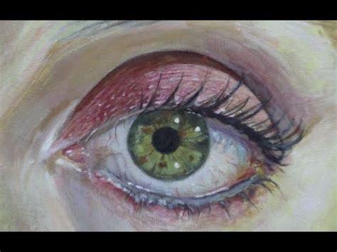 como pintar  ojo realista  acrilico paso  paso