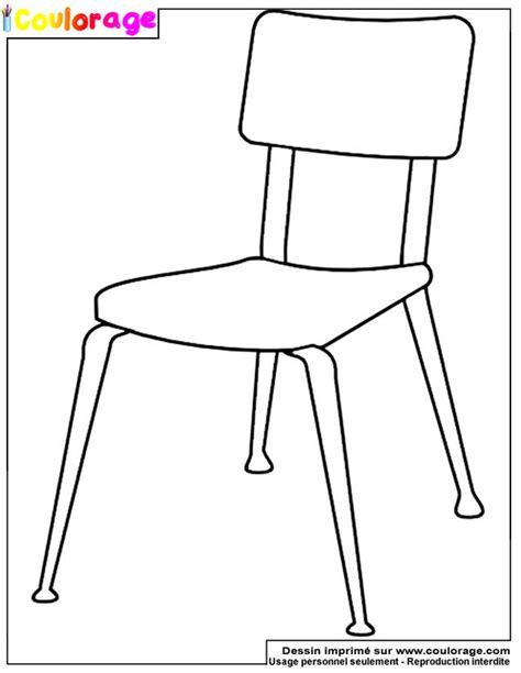 dessin d une chaise coulorage dessin et coloriage de chaise à imprimer