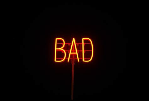 Is A A Bad Sign by Thats A Bad Sign In Neon Neon Skylt Utanf 246 R Lule 229