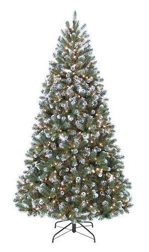 kohls christmas trees st nicholas square 7 ft frosted pine pre lit
