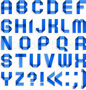 alphabet folded of colored paper blue letters stock With blue alphabet letters
