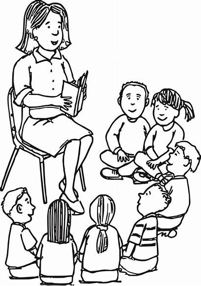 Teacher Coloring Pages Printable Learning