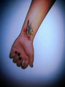 Paintbrush tattoo on left wrist! | art I like | Pinterest