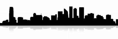 Silhouette Skyline Building Cartoon Cities Background Skylines