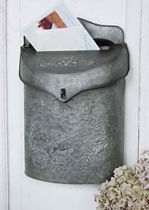 Briefkasten Shabby Chic : briefkasten aus zink metal im landhaus shabby chic stil ~ Watch28wear.com Haus und Dekorationen